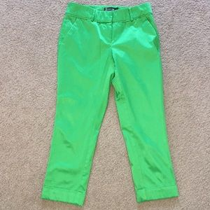 New York and Company Green Cropped Pant